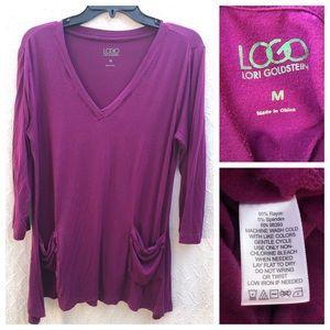 LOGO Lori Goldstein Tunic Shirt